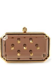 Pochette con borchie dorata di Alexander McQueen