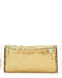 Pochette con paillettes dorata di Edie Parker