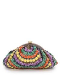 Pochette con perline multicolore