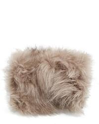 Pochette di pelliccia marrone chiaro