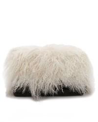 Pochette di pelliccia nera e bianca