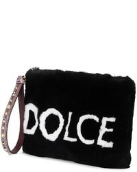 Pochette di pelliccia nera di Dolce & Gabbana