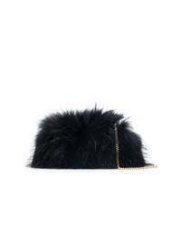 Pochette di pelliccia nera di Dsquared2