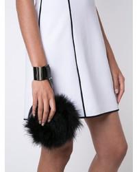 Pochette di pelliccia nera di Perrin Paris
