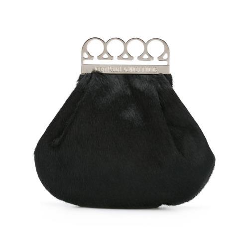 Pochette di pelliccia nera di Jean Paul Gaultier Vintage