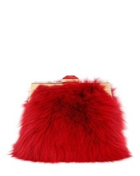 Pochette di pelliccia rossa
