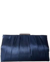 Pochette di raso blu scuro