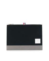 Pochette di tela nera di Thom Browne
