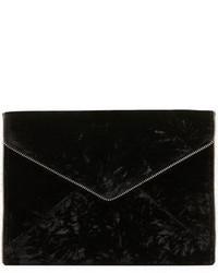 Pochette di velluto nera