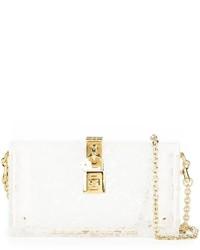 Pochette in pelle bianca di Dolce & Gabbana