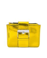 Pochette in pelle dorata di Sergio Rossi