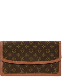 Pochette in pelle marrone scuro di Louis Vuitton