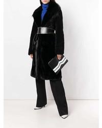 Pochette in pelle nera e bianca di Givenchy