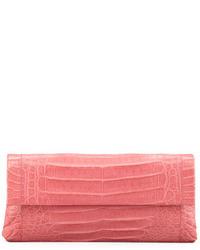 Pochette in pelle rosa