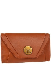 Pochette in pelle terracotta