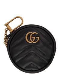 Pochette in pelle trapuntata nera di Gucci