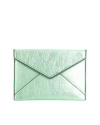 e324c696e ... Pochette in pelle verde menta di Rebecca Minkoff