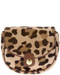 Pochette leopardata marrone chiaro