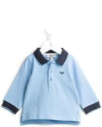 Polo azzurro di Armani Junior