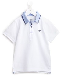 Polo bianco di Armani Junior