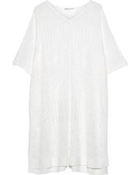 Poncho lavorato a maglia bianco