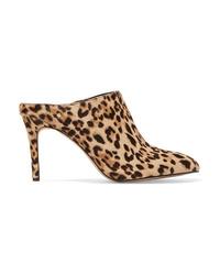 Sabot in cavallino leopardati marrone chiaro