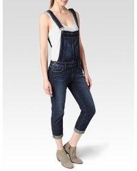 Salopette di jeans blu scuro