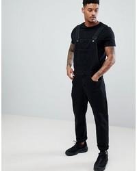 Salopette di jeans nera di ASOS DESIGN
