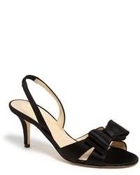 Sandali con tacco di raso neri