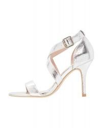 Sandali con tacco in pelle argento di Dorothy Perkins