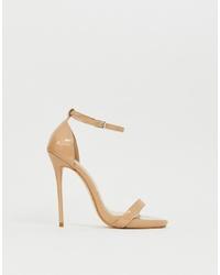 Sandali con tacco in pelle beige di SIMMI Shoes