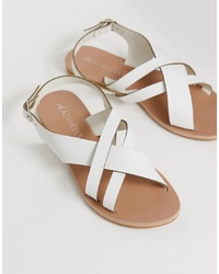 Sandali con tacco in pelle bianchi di Head over Heels by Dune