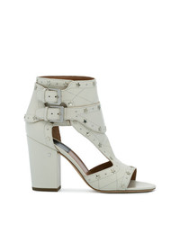 Sandali con tacco in pelle bianchi di Laurence Dacade