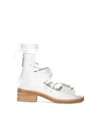 Sandali con tacco in pelle bianchi di Marsèll