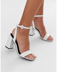 Sandali con tacco in pelle bianchi di RAID