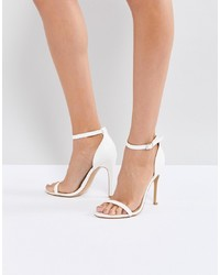 Sandali con tacco in pelle bianchi di Truffle Collection