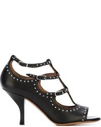 Sandali con tacco in pelle con borchie neri di Givenchy