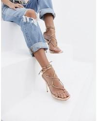 Sandali con tacco in pelle dorati di SIMMI Shoes