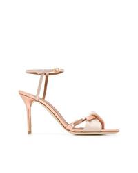 Sandali con tacco in pelle rosa di Malone Souliers
