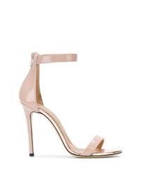 Sandali con tacco in pelle rosa di Marc Ellis