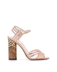Sandali con tacco in pelle rosa di Nicholas Kirkwood