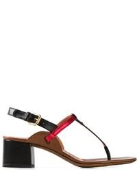 Sandali con tacco in pelle rossi e neri di L'Autre Chose