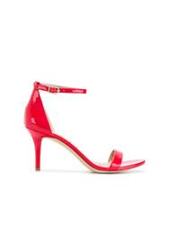 Sandali con tacco in pelle rossi di Sam Edelman