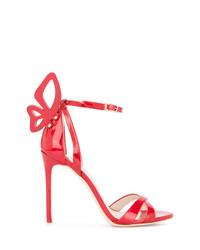 Sandali con tacco in pelle rossi di Sophia Webster