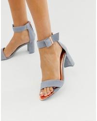 Sandali con tacco in pelle scamosciata azzurri di Ted Baker