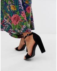 Sandali con tacco in pelle scamosciata neri di Ted Baker