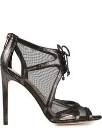 Sandali con tacco in rete neri di Sam Edelman