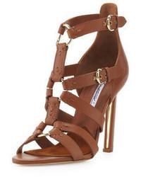 Sandali con tacco marroni