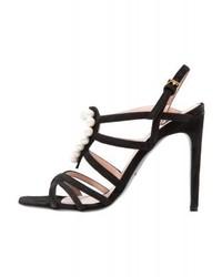Sandali con tacco neri di Moschino