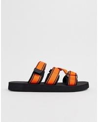 Sandali di tela arancioni di ASOS DESIGN